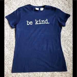 """Be Kind"" Navy Blue Short Sleeve T-shirt"